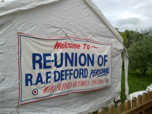 """Welcome to the Reunion of RAF Defford"""
