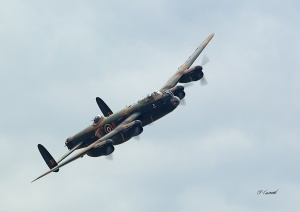 BBMF Lancaster flies over Croome at Defford Airfield Heritage Day, September 2013