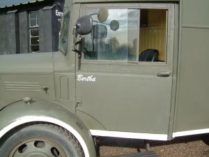 1941 Austin K2 YMCA tea car arrives at Croome, formerly RAF Defford