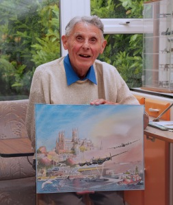 Michael Barnard in his studio in the Vale of Evesham