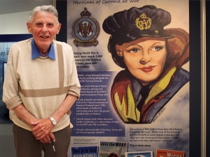 Michael Barnard's portrait of a WAAF appears at the 'Women of RAF Defford' Exhibition. Photo: Peter Young